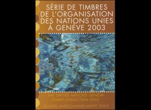 UNO Genf Jahressammelmappe 2003, gestempelt
