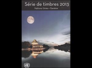 UNO Genf Jahressammelmappe 2013, gestempelt
