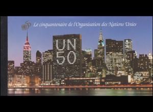 UNO Genf Markenheftchen 1 Jubiläum 50 Jahre Vereinte Nationen 1995, ESSt Genf