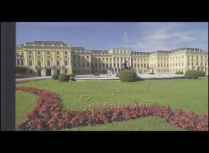 UNO Genf Markenheftchen 3 UNESCO-Welterbe Schloss Schönbrunn 1998, **