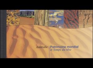 UNO Genf Markenheftchen 4 UNESCO-Welterbe Australien 1999, **