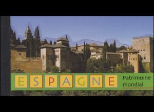 UNO Genf Markenheftchen 5 UNESCO-Welterbe Spanien 2000, **