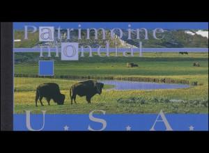 UNO Genf Markenheftchen 8 UNESCO-Welterbe USA 2003, **