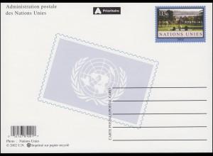 UNO Genf Postkarte P 15 Ariana-Park 1,30 Franken 2002, ungebraucht **