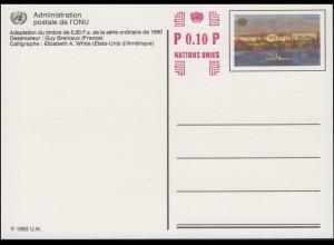 UNO Genf Postkarte P 17 Palais des Nations 0,90+0,10 Franken 2004 ungebraucht **