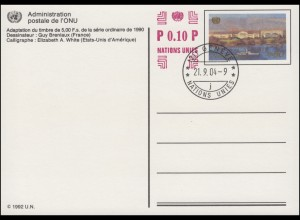 UNO Genf Postkarte P 17 Palais des Nations 0,90+0,10 Franken 2004 ET-O 21.9.2004