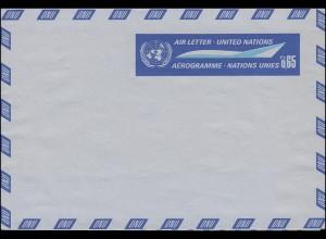 UNO Genf Luftpostfaltbrief LF 1 Flugzeug 0,65 Franken 1969, ungebraucht **