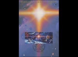 MK 8 von UNO Genf 219-220 Weltraumjahr 1992, amtliche Maximumkarte