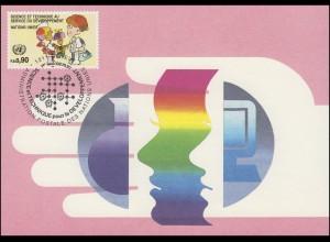 MK 12 von UNO Genf 221 Ärztin und Patientin 1992, amtliche Maximumkarte