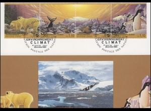 MK 20 von UNO Genf 239-242 Klimaveränderung 1993, amtliche Maximumkarte