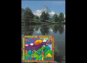 MK 51 von UNO Genf 309-312 Ökosystem Gebirge 1997, amtliche Maximumkarte