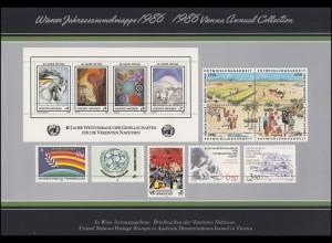 UNO Wien Jahressammelmappe 1986, postfrisch **