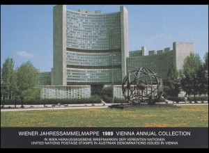 UNO Wien Jahressammelmappe 1989, postfrisch **