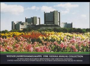 UNO Wien Jahressammelmappe 1990, postfrisch **