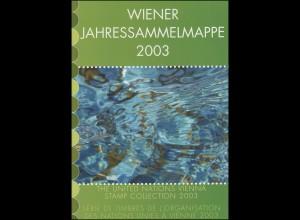 UNO Wien Jahressammelmappe 2003, gestempelt