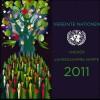 UNO Wien Jahressammelmappe 2011, gestempelt