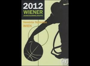 UNO Wien Jahressammelmappe 2012, gestempelt
