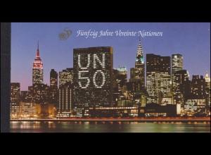UNO Wien: Markenheftchen 1 Fünfzig Jahre Vereinte Nationen 1995, **