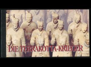UNO Wien: Markenheftchen 2 UNESCO-Weltkulturerbe Terrakotta-Krieger 1997, ESSt