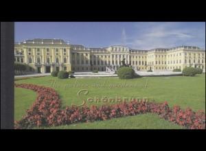 UNO Wien: Markenheftchen 3 UNESCO-Welterbe Schloss Schönbrunn 1998, **