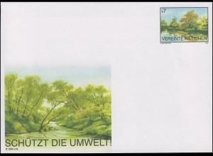 UNO Wien Umschlag U 2 Auenlandschaft der Donau 7 Schilling 1995, ungebraucht **