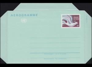 UNO Wien Luftpostfaltbrief LF 1 Friedenstaube 9 Schilling 1982, ungebraucht **