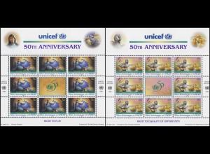 UNO New York 720-721 Kinderhilfswerk UNICEF 1996 - Märchen, ZD-Bogen **