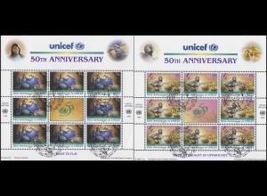 UNO New York 720-721 Kinderhilfswerk UNICEF 1996 - Märchen, ZD-Bogen ESSt