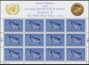 UNO New York 888 Friedensnobelpreis 2001 an die Vereinten Nationen, Bogen **