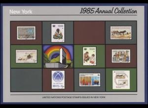 UNO New York Jahressammelmappe Souvenir Folder 1985, postfrisch **