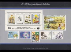 UNO New York Jahressammelmappe Souvenir Folder 1986, postfrisch **