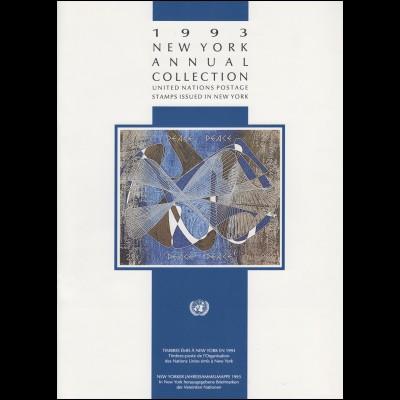 UNO New York Jahressammelmappe Souvenir Folder 1993, postfrisch **