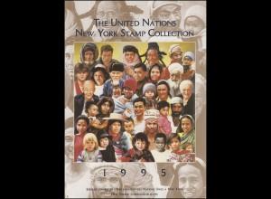 UNO New York Jahressammelmappe Souvenir Folder 1995, postfrisch **
