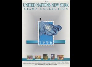 UNO New York Jahressammelmappe Souvenir Folder 1996, postfrisch **