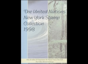 UNO New York Jahressammelmappe Souvenir Folder 1998, postfrisch **