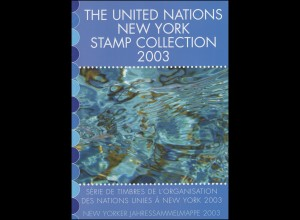 UNO New York Jahressammelmappe Souvenir Folder 2003, postfrisch **