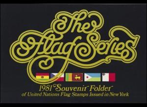 UNO New York Mappe Flaggen 1981, postfrisch **