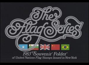 UNO New York Mappe Flaggen 1983, postfrisch **