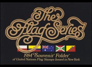 UNO New York Mappe Flaggen 1984, postfrisch **