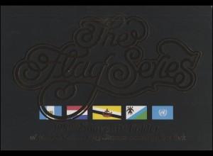 UNO New York Mappe Flaggen 1989, postfrisch **