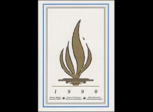 UNO Mappe Allgemeine Erklärung der Menschenrechte 1990, gestempelt
