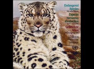 UNO Mappe Gefährdete Arten 1993, gestempelt