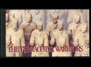 UNO New York Markenheftchen 2 Terrakotta-Krieger Terracotta Warriors 1997, ESSt