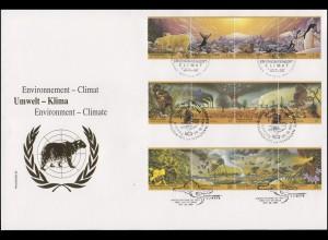 UNO Trio-FDC 11 Klimaveränderungen durch Umweltverschmutzung 29.10.93 querformat