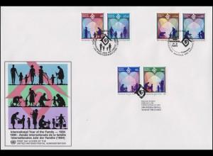 UNO Trio-FDC 12 Internationales Jahr der Familie 4.2.1994