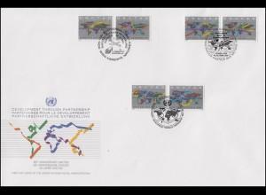 UNO Trio-FDC 17 Handel und Entwicklung (UNCTAD) 28.10.1994