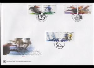 UNO Trio-FDC 95 Internationales Jahr des Sports und der Sporterziehung 3.6.2005