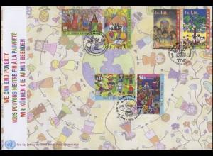 UNO Trio-FDC 114 Internationaler Tag zur Beseitigung der Armut 18.9.2008