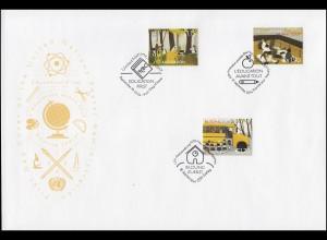 UNO Trio-FDC 147 Global Education First Bildung zuerst - Markenausgaben 18.9.14