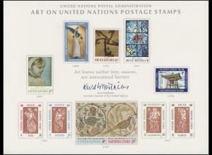 UNO Erinnerungskarte EK 2 Kunstwerke für die UNO 1972, ungebraucht **